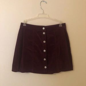 Brandy Melville Button Up Suede Skirt